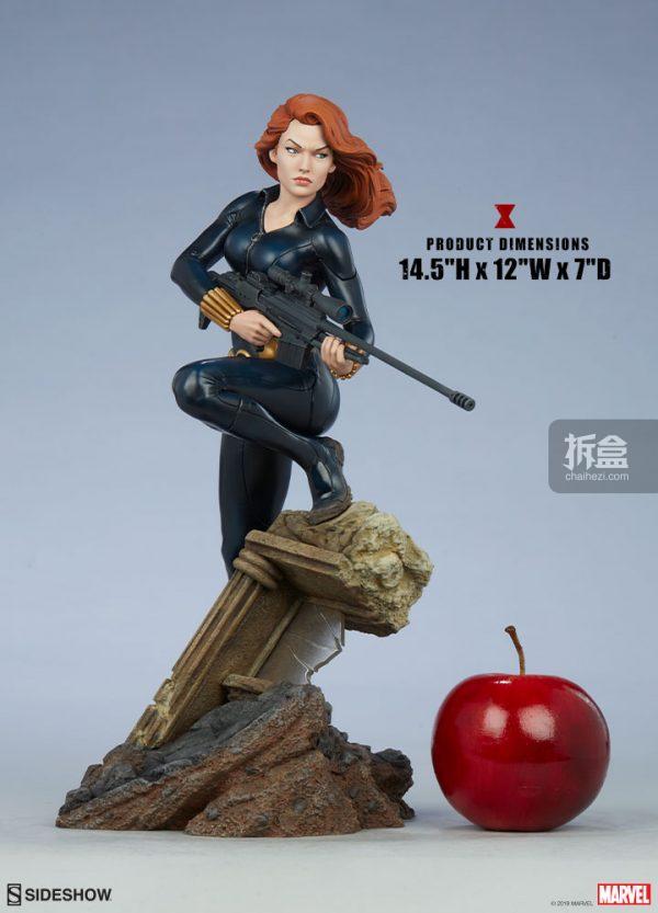 Sideshow 漫威漫畫 黑寡婦Black Widow1:5雕像 3