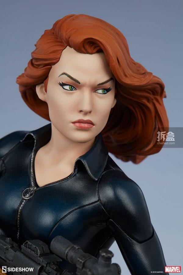 Sideshow 漫威漫畫 黑寡婦Black Widow1:5雕像 7