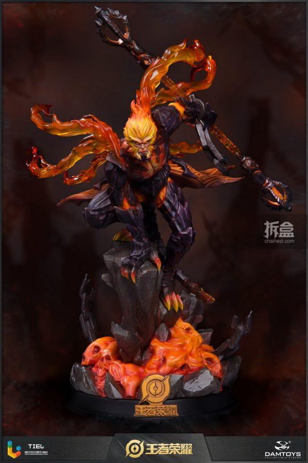 DAMTOYS × 騰訊《王者榮耀》地獄火-孫悟空 鋒芒榮耀典藏版1:8雕像 1