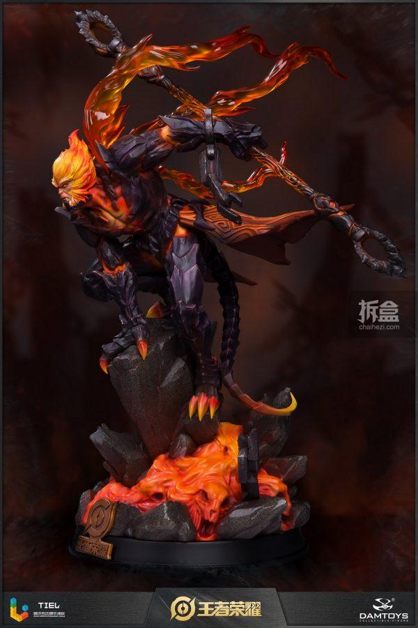 DAMTOYS × 騰訊《王者榮耀》地獄火-孫悟空 鋒芒榮耀典藏版1:8雕像 2