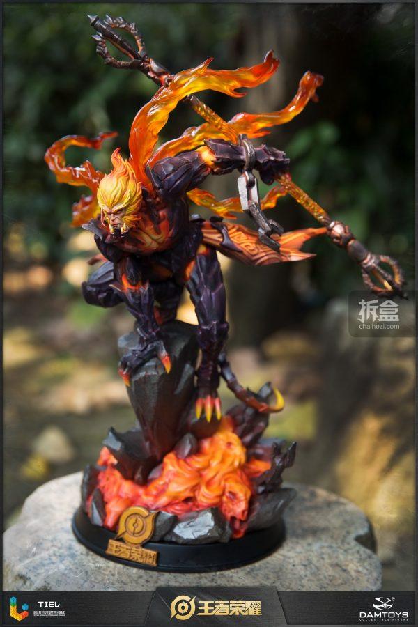 DAMTOYS × 騰訊《王者榮耀》地獄火-孫悟空 鋒芒榮耀典藏版1:8雕像 18