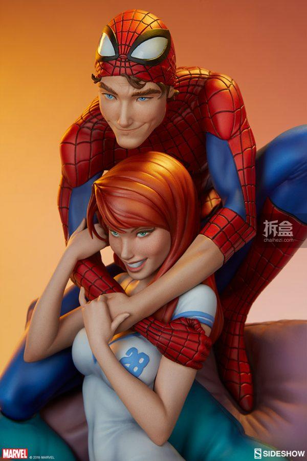 Sideshow 漫威漫畫《神奇蜘蛛俠:再續誓言》蜘蛛俠和瑪麗簡12.5寸雕像 4