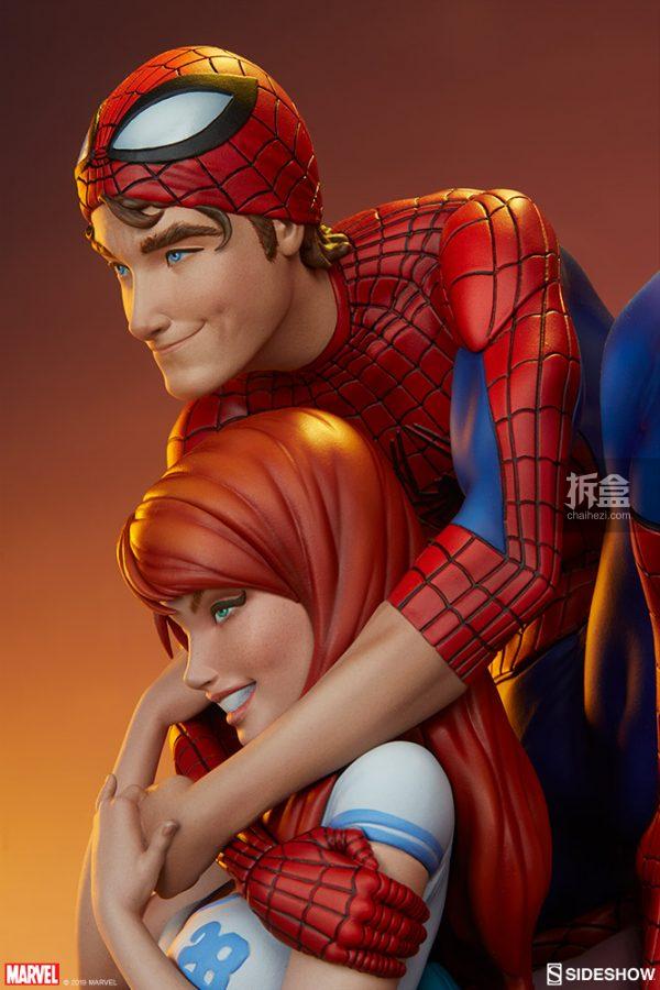 Sideshow 漫威漫畫《神奇蜘蛛俠:再續誓言》蜘蛛俠和瑪麗簡12.5寸雕像 5