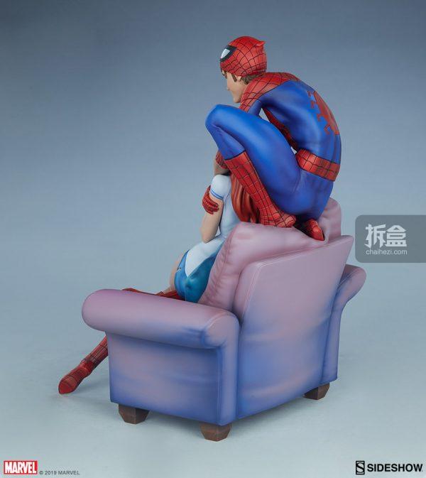 Sideshow 漫威漫畫《神奇蜘蛛俠:再續誓言》蜘蛛俠和瑪麗簡12.5寸雕像 15