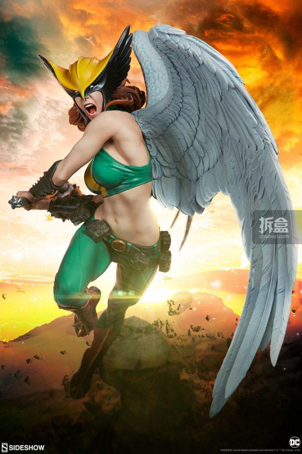 Sideshow DC超級英雄 Hawkgirl鷹女 22寸PF雕像 1