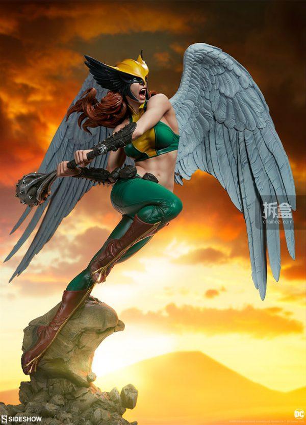 Sideshow DC超級英雄 Hawkgirl鷹女 22寸PF雕像 3
