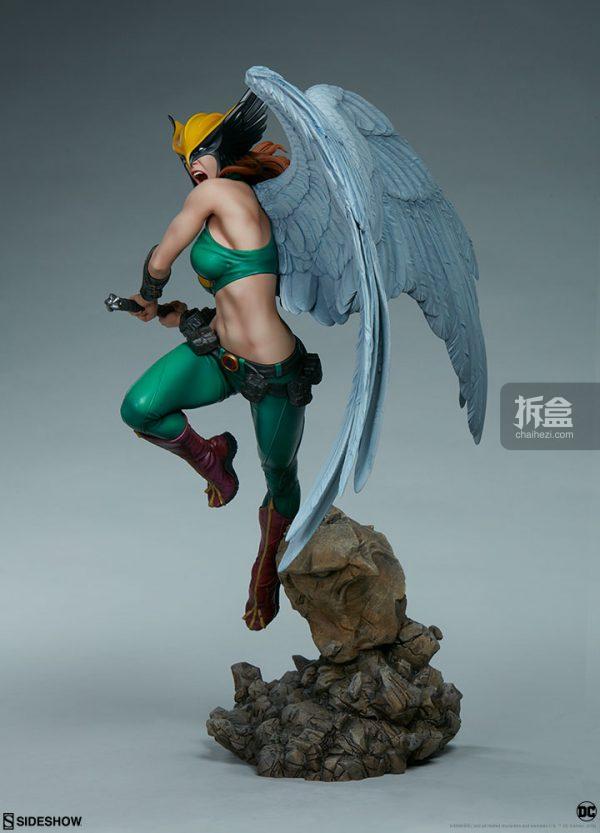Sideshow DC超級英雄 Hawkgirl鷹女 22寸PF雕像 5