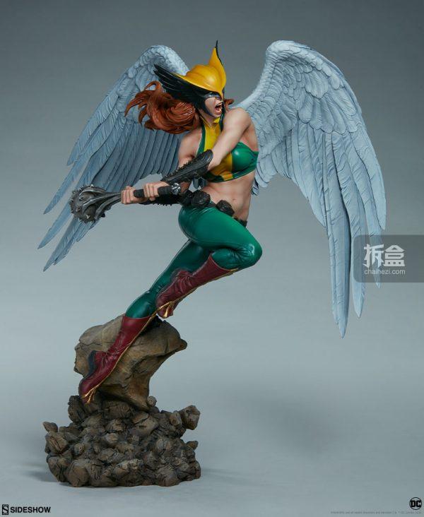 Sideshow DC超級英雄 Hawkgirl鷹女 22寸PF雕像 9