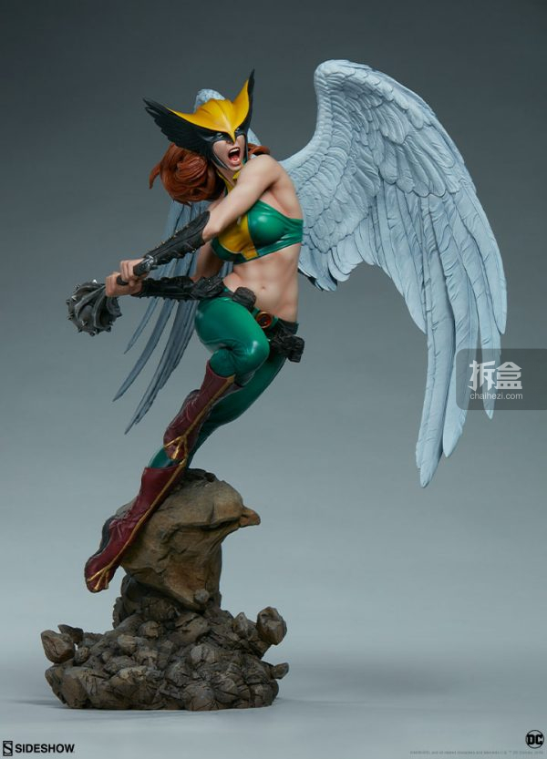 Sideshow DC超級英雄 Hawkgirl鷹女 22寸PF雕像 10