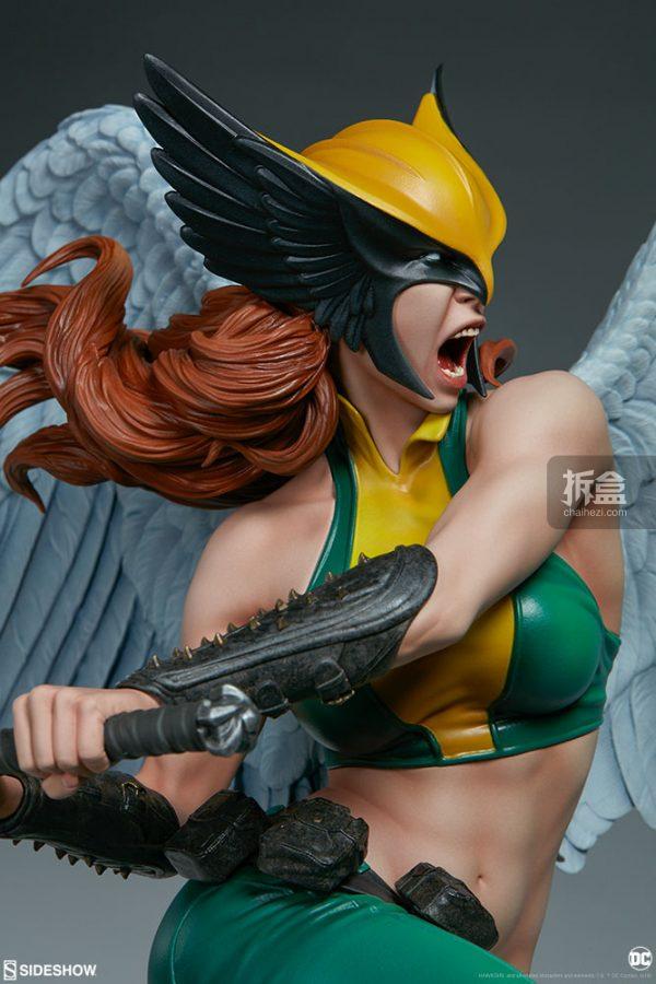 Sideshow DC超級英雄 Hawkgirl鷹女 22寸PF雕像 12