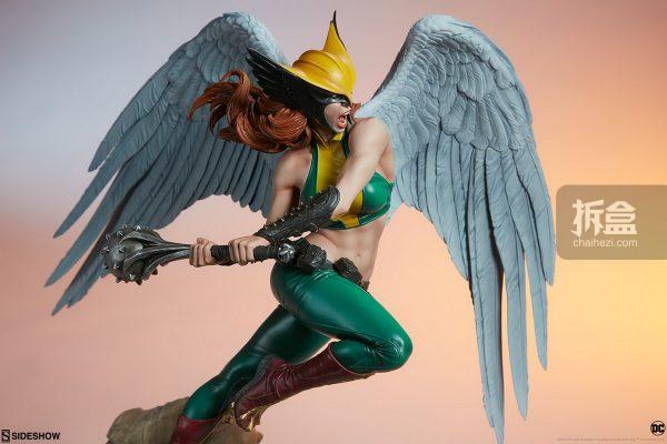 Sideshow DC超級英雄 Hawkgirl鷹女 22寸PF雕像 20