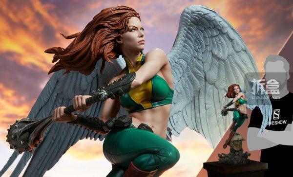 Sideshow DC超級英雄 Hawkgirl鷹女 22寸PF雕像 22