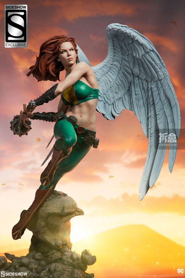 Sideshow DC超級英雄 Hawkgirl鷹女 22寸PF雕像 24