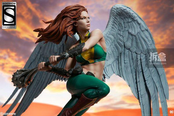 Sideshow DC超級英雄 Hawkgirl鷹女 22寸PF雕像 25