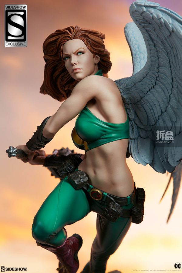 Sideshow DC超級英雄 Hawkgirl鷹女 22寸PF雕像 26