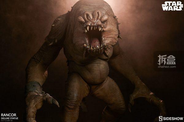 Sideshow《星球大戰》怪獸 Rancor蘭苛 29寸豪華雕像 2