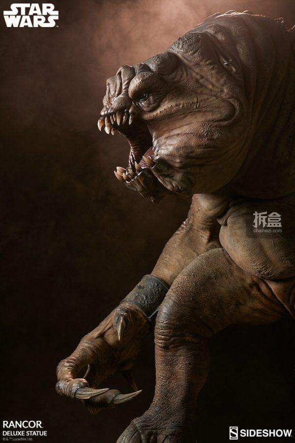 Sideshow《星球大戰》怪獸 Rancor蘭苛 29寸豪華雕像 3