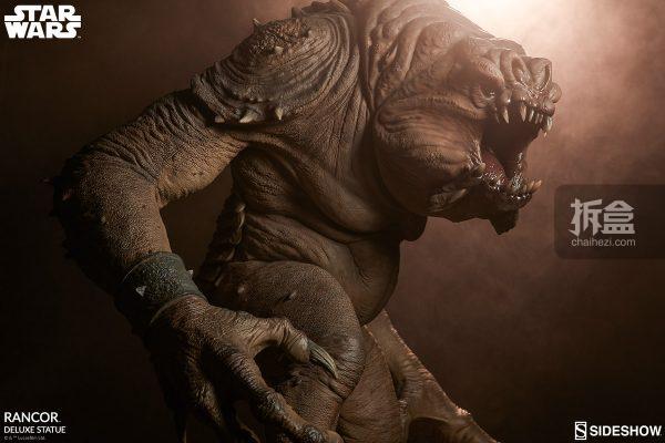 Sideshow《星球大戰》怪獸 Rancor蘭苛 29寸豪華雕像 4