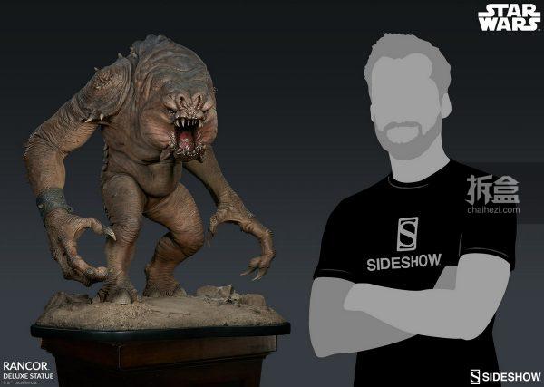 Sideshow《星球大戰》怪獸 Rancor蘭苛 29寸豪華雕像 5