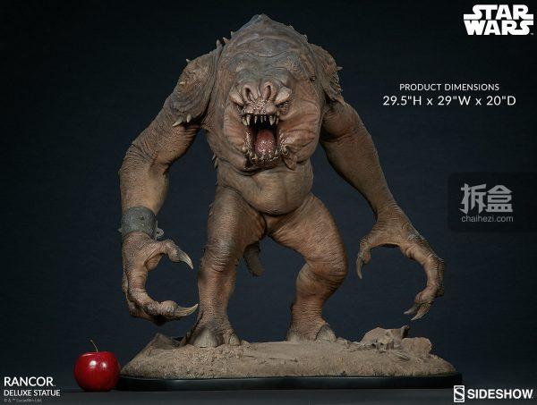 Sideshow《星球大戰》怪獸 Rancor蘭苛 29寸豪華雕像 6