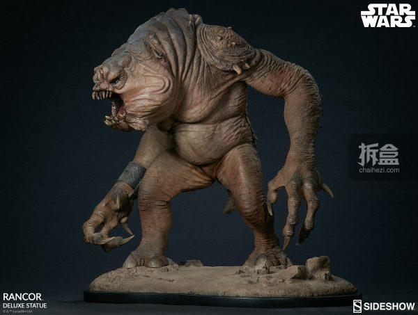 Sideshow《星球大戰》怪獸 Rancor蘭苛 29寸豪華雕像 7