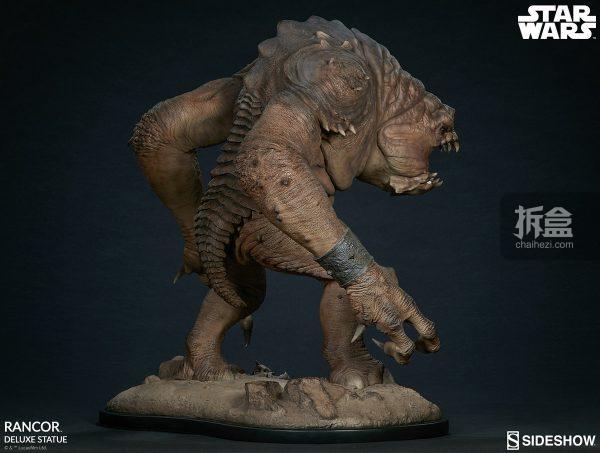 Sideshow《星球大戰》怪獸 Rancor蘭苛 29寸豪華雕像 9