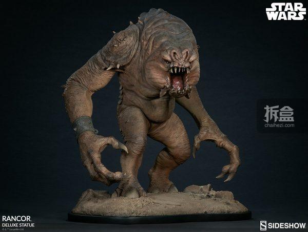 Sideshow《星球大戰》怪獸 Rancor蘭苛 29寸豪華雕像 10