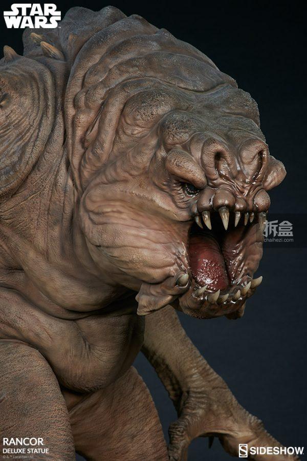 Sideshow《星球大戰》怪獸 Rancor蘭苛 29寸豪華雕像 12