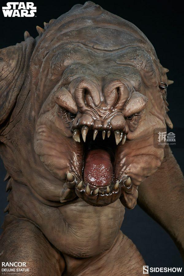Sideshow《星球大戰》怪獸 Rancor蘭苛 29寸豪華雕像 13