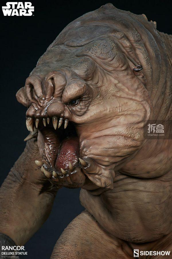 Sideshow《星球大戰》怪獸 Rancor蘭苛 29寸豪華雕像 14