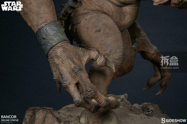 Sideshow《星球大戰》怪獸 Rancor蘭苛 29寸豪華雕像 15