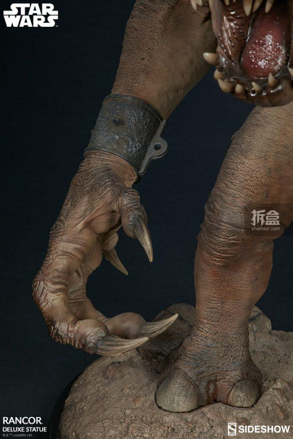 Sideshow《星球大戰》怪獸 Rancor蘭苛 29寸豪華雕像 16