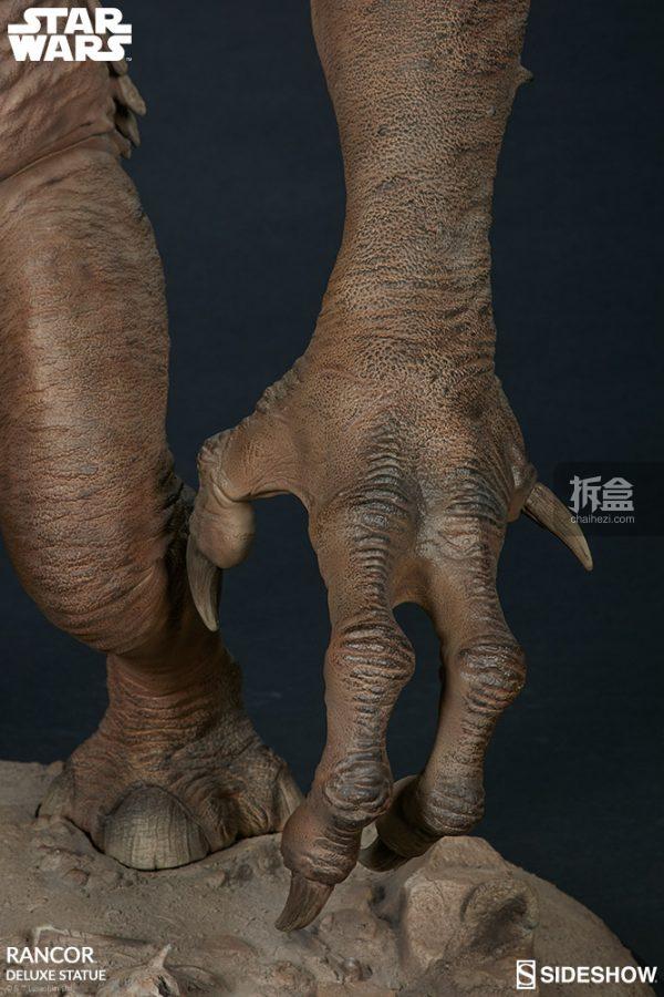Sideshow《星球大戰》怪獸 Rancor蘭苛 29寸豪華雕像 17