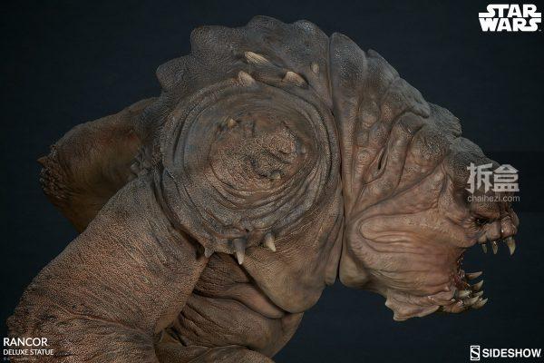Sideshow《星球大戰》怪獸 Rancor蘭苛 29寸豪華雕像 19