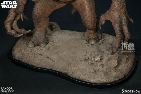 Sideshow《星球大戰》怪獸 Rancor蘭苛 29寸豪華雕像 21