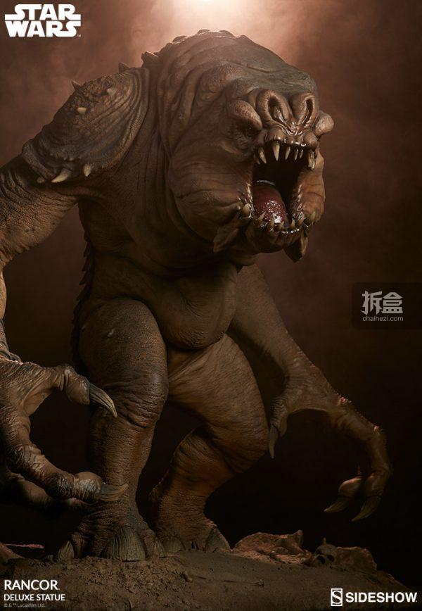 Sideshow《星球大戰》怪獸 Rancor蘭苛 29寸豪華雕像 23