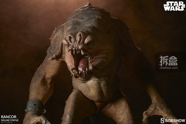 Sideshow《星球大戰》怪獸 Rancor蘭苛 29寸豪華雕像 24