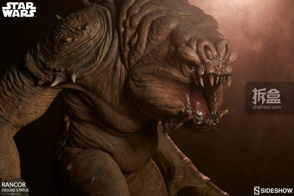 Sideshow《星球大戰》怪獸 Rancor蘭苛 29寸豪華雕像 25