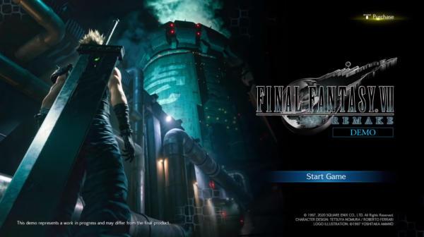 《Final Fantasy VII Remake》體驗版開場動畫於網路上流出 初步確認檔案容量資訊 2