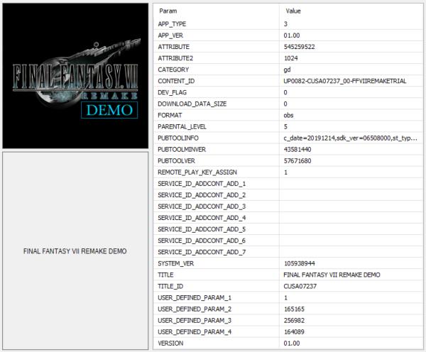 《Final Fantasy VII Remake》體驗版開場動畫於網路上流出 初步確認檔案容量資訊 6