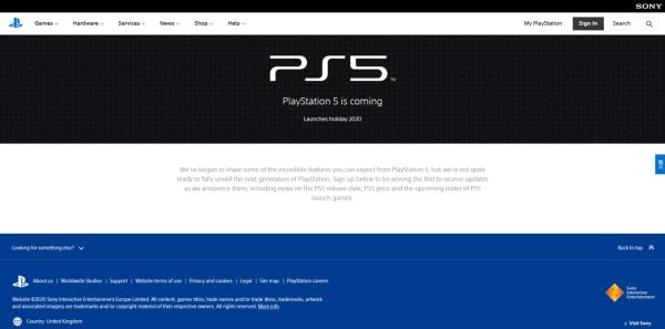 PlayStation 5 官方資訊頁面上線 將逐步揭露次世代主機消息 1